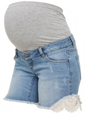 Pantaloni scurți de blugi pentru gravide Mamalicious Casis [2]