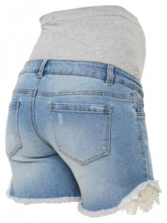 Pantaloni scurți de blugi pentru gravide Mamalicious Casis [3]