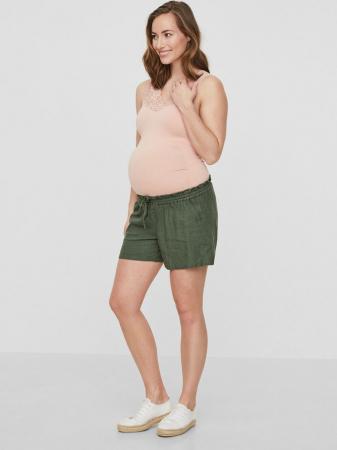 Pantaloni scurți gravide din in Mamalicious Linen Woven0