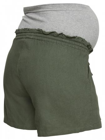 Pantaloni scurți gravide din in Mamalicious Linen Woven4