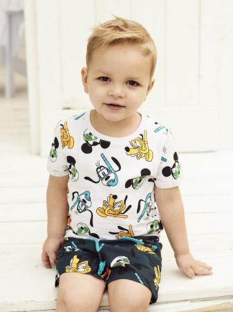 Pantaloni scurti copii, bumbac organic, baieti – Name It Mickey2
