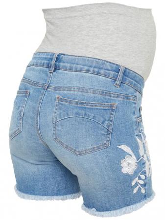 Pantaloni scurti de blugi pentru gravide Mamalicious Chelsea2