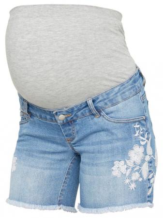Pantaloni scurti de blugi pentru gravide Mamalicious Chelsea1
