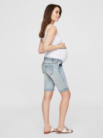 Pantaloni scurti de blugi pentru gravide Mamalicious Marabella1