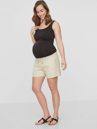 Pantaloni scurti din in pentru gravide Mamalicious Linen1