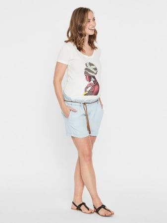 Pantaloni scurti pentru gravide din lyocell Mamalicious Adora0