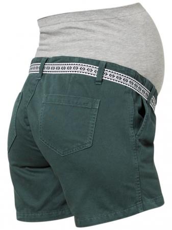 Pantaloni scurti pentru gravide Mamalicious Cancun din twill2