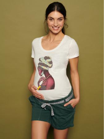 Pantaloni scurti pentru gravide Mamalicious Cancun din twill0