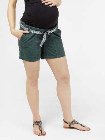 Pantaloni scurti pentru gravide Mamalicious Cancun din twill4