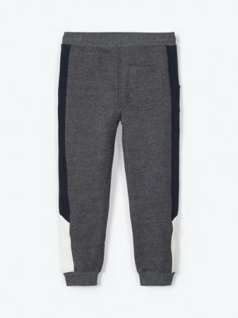 Pantaloni trening baieti, bumbac organic – Name It Omalley Grey1