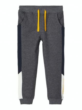 Pantaloni trening baieti, bumbac organic – Name It Omalley Grey0