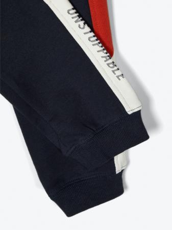 Pantaloni trening baieti, bumbac organic – Name It Omalley Sapphire3