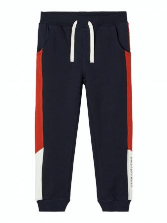 Pantaloni trening baieti, bumbac organic – Name It Omalley Sapphire0