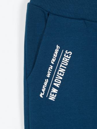 Pantaloni trening copii, bumbac organic, baieti – Name It Lanis albastru2