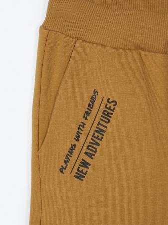 Pantaloni trening copii, bumbac organic, baieti – Name It Lanis mustar2