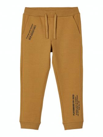 Pantaloni trening copii, bumbac organic, baieti – Name It Lanis mustar0