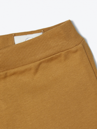 Pantaloni trening copii, bumbac organic, baieti – Name It Lanis mustar3