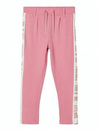 Pataloni trening copii, bumbac organic, fete – Name It Laissi roz0