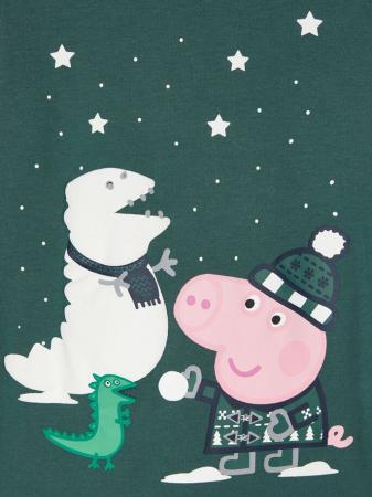 Pijama copii, bumbac organic, baieti - Name It Peppa Pig3