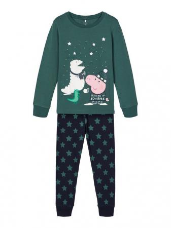 Pijama copii, bumbac organic, baieti - Name It Peppa Pig