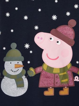 Pijama copii, bumbac organic, fete - Name It Peppa Pig3