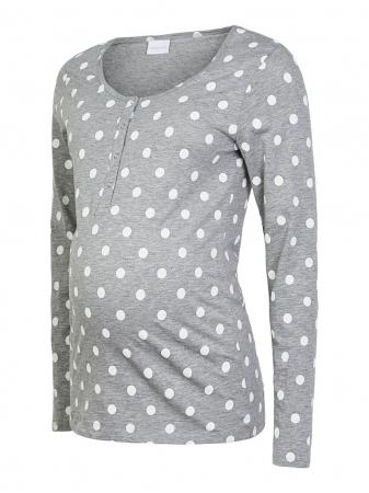 Pijama gravide, bluza si pantalon, bumbac organic – Mamalicious Rib6