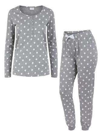 Pijama gravide, bluza si pantalon, bumbac organic – Mamalicious Rib5