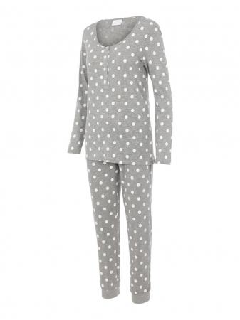 Pijama gravide, bluza si pantalon, bumbac organic – Mamalicious Rib7