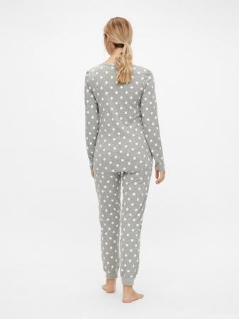 Pijama gravide, bluza si pantalon, bumbac organic – Mamalicious Rib4