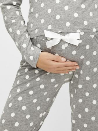 Pijama gravide, bluza si pantalon, bumbac organic – Mamalicious Rib3