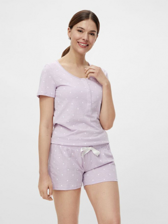 pijama-gravide-si-alaptare-cu-pantaloni-scurti-mamalicious-orchid [0]