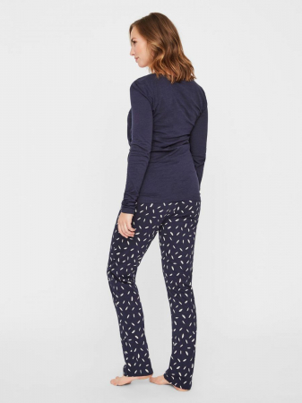 Pijama gravide si alaptare din bumbac organic Mamalicious Chill9