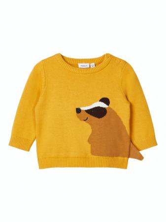 Pulover tricotat bebelusi, bumbac organic, baieti – Name It Nadimme0