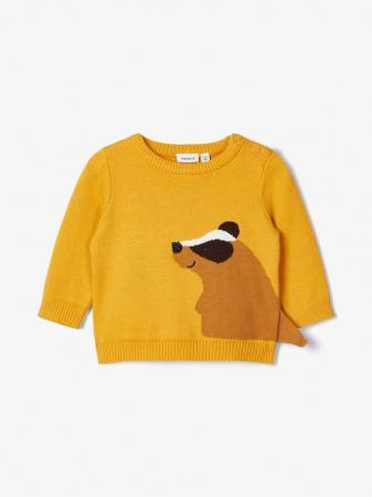 Pulover tricotat bebelusi, bumbac organic, baieti – Name It Nadimme1
