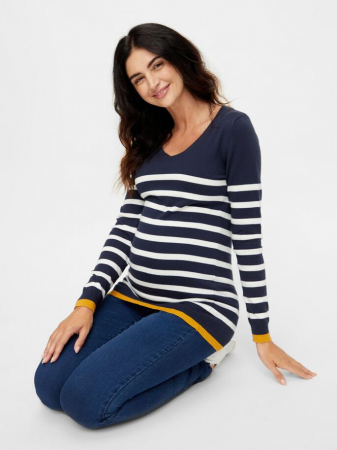 Pulover tricotat pentru gravide Mamalicious Kenna4