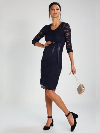 Rochie eleganta gravide Mamalicious Mivana Blue1