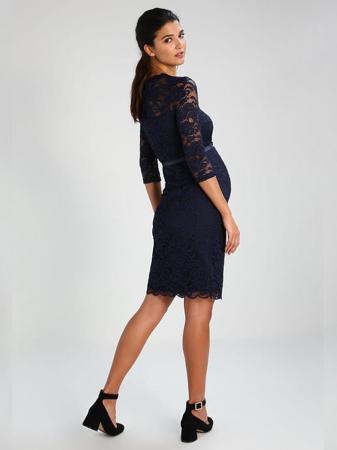 Rochie eleganta gravide Mamalicious Mivana Blue2