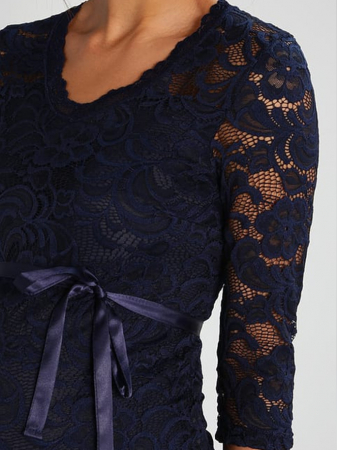 Rochie eleganta gravide Mamalicious Mivana Blue3