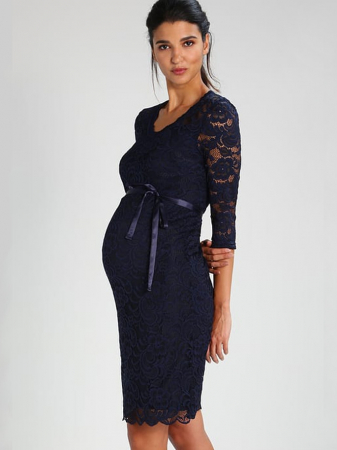 Rochie eleganta gravide Mamalicious Mivana Blue0