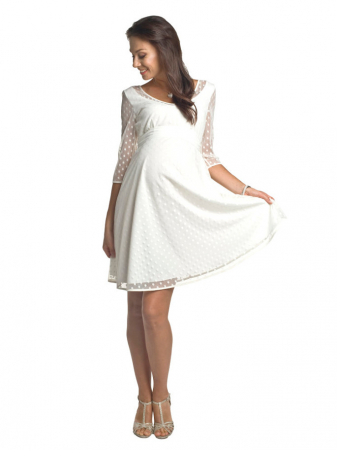 Rochie eleganta gravide Marina Ivory0