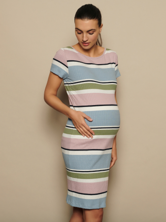 Rochie gravide din bumbac organic Mamalicious Aura0