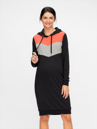 Rochie gravide sweater style din bumbac organic Ester1
