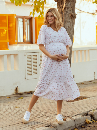 Rochie pentru gravide din bumbac Mamalicious Ditsy0