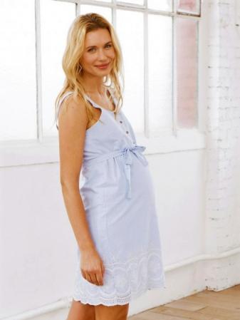 Rochie pentru gravide din bumbac Mamalicious Leila1