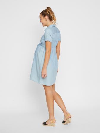 Rochie tip camasa pentru gravide si alaptare Mamalicious Xandra1