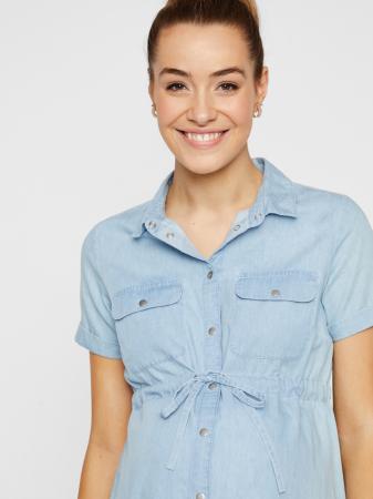 Rochie tip camasa pentru gravide si alaptare Mamalicious Xandra2