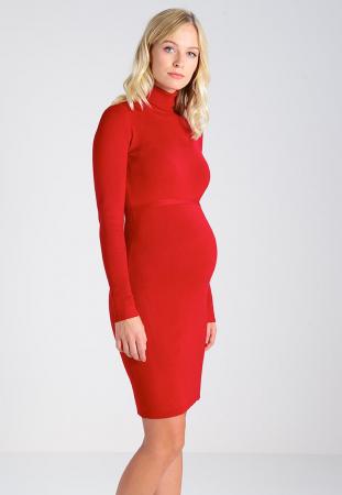 Rochie pentru gravide Mamalicious Jacina rosie2
