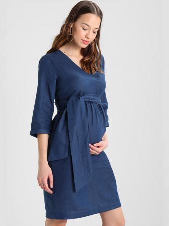 Rochie pentru gravide Mamalicious Vintage din bumbac0