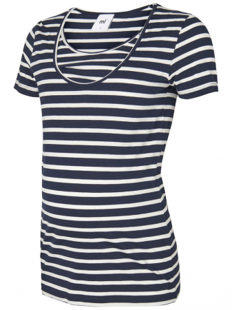 Set 2 tricouri navy pentru gravide si alaptare Mamalicious Nell5