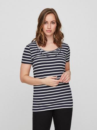 Set 2 tricouri navy pentru gravide si alaptare Mamalicious Nell3
